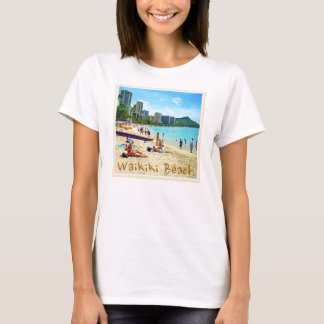 Waikikiのビーチのワイシャツ Tシャツ