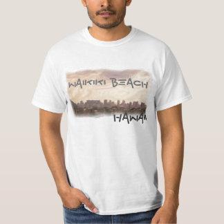 Waikikiのビーチの価値ワイシャツ Tシャツ