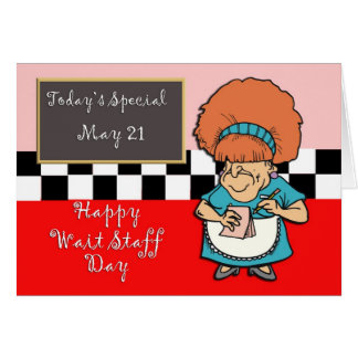 Waitstaff日5月21日 グリーティングカード