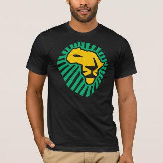 Wakaのwakaのライオンの頭部のアフリカの緑の黄色人のワイシャツ Tシャツ