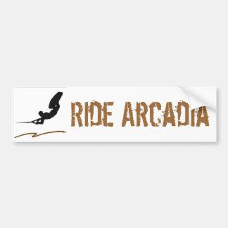 Wakeboard湖Acradia バンパーステッカー