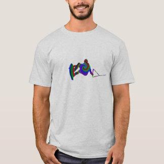 Wakeboard色の渦巻のTシャツ Tシャツ