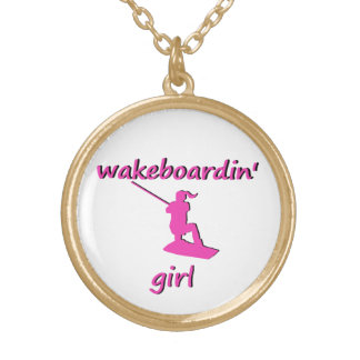 Wakeboardinの女の子のネックレス ゴールドプレートネックレス