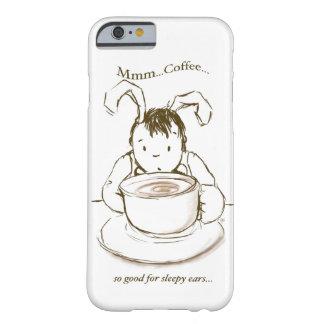 Wakey Wakeyの眠いウサギ、最初コーヒー Barely There iPhone 6 ケース