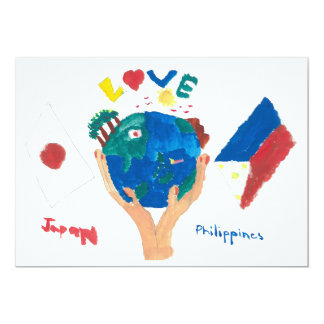WAKU MESSAGE CARD ~Art by kids of Philippines~ 12.7 X 17.8 インビテーションカード