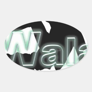 Walaのブランド 楕円形シール
