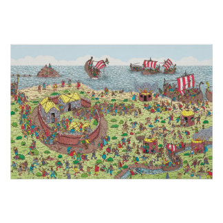 Waldoがバイキングの旅行の いるところ ポスター