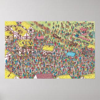 Waldoが土曜日の朝に 一度あるところ ポスター