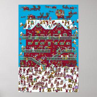 Waldoが サンタのシャレーいるところ ポスター