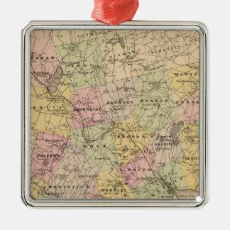 Waldo郡、メイン シルバーカラー正方形オーナメント