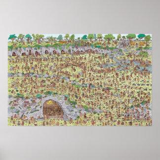 Waldo  の石器時代があるところ ポスター