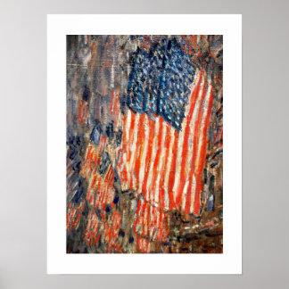 """""""Waldorfの旗""""。 ファインアートポスター ポスター"""