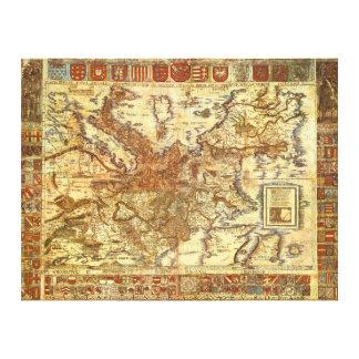 Waldseemüller 1520年著Carta Itineraria Europae キャンバスプリント