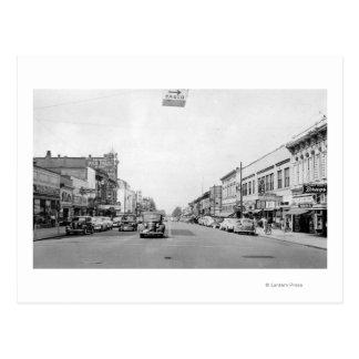 Walla WallaのWAの写真のメイン・ストリート ポストカード