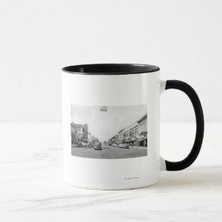 Walla WallaのWAの写真のメイン・ストリート マグカップ