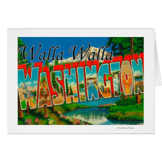 Walla Walla、ワシントン州-大きい手紙場面 カード
