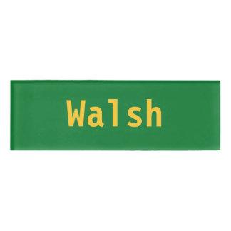 Walshの名札 名札