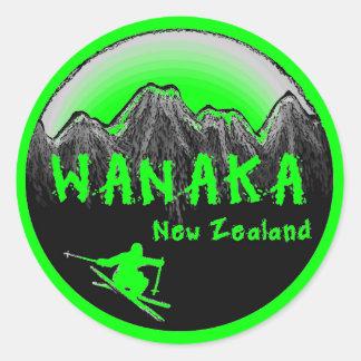 Wanakaニュージーランドのスキーヤー ラウンドシール