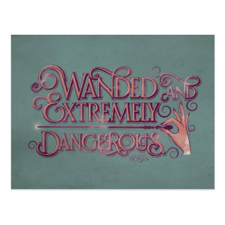 Wandedおよび非常に危ないグラフィック-ピンク ポストカード