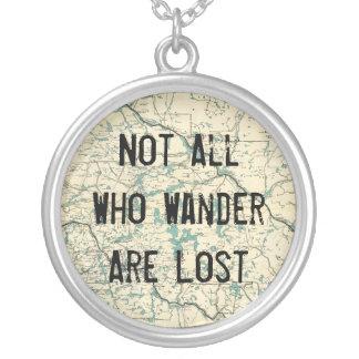 wander失ったすべて シルバープレートネックレス