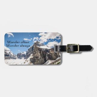 Wander often Banff National Park luggage tag ラゲッジタグ