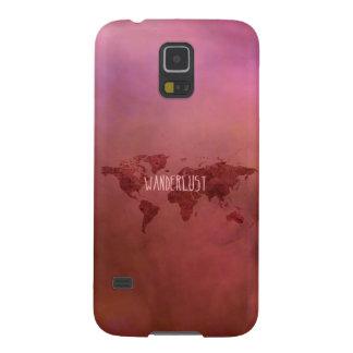 Wanderlustのカラフルなヴィンテージの世界地図 Galaxy S5 ケース