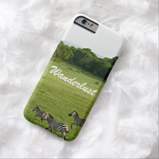 Wanderlustのシマウマ Barely There iPhone 6 ケース
