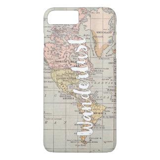 Wanderlustの世界地図のsmartphoneの場合 iPhone 8 Plus/7 Plusケース