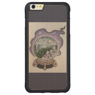Wanderlustの自然の雪の地球の電話箱 CarvedメープルiPhone 6 Plusバンパーケース