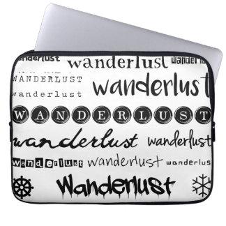 Wanderlustの袖-黒 ラップトップスリーブ