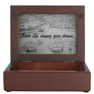Wanderlustの記念品箱 ジュエリーボックス