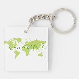 Wanderlust、世界地図 キーホルダー