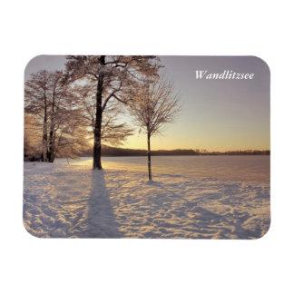 Wandlitzseeの冬場面 マグネット