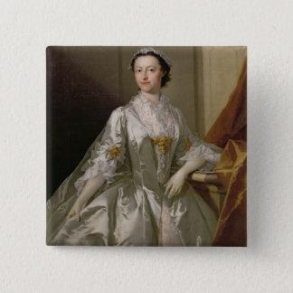 Wardle 1742年夫人(キャンバスの油) 5.1cm 正方形バッジ
