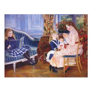 Wargemontのピエールルノアールの子供の` sの午後 ポストカード