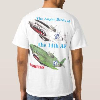 Warkites第14 AFの怒っている鳥 Tシャツ
