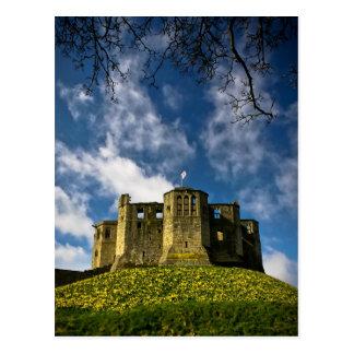 Warkworthの城および隠者の住処の郵便はがき ポストカード