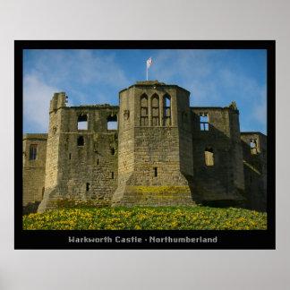 Warkworthの城および隠者の住処 ポスター