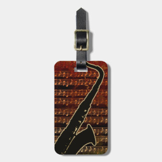 Warm Tones Saxophone ID280 ラゲッジタグ