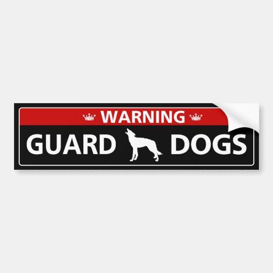 Warning ! Guard Dogs バンパーステッカー