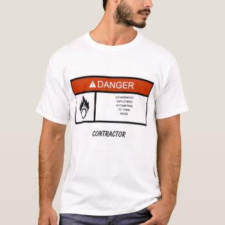 warninglabel、建築業者 tシャツ