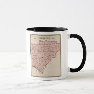 Warrick郡の地図 マグカップ