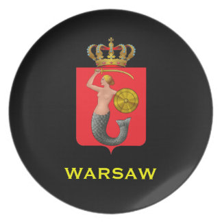Warsaw*ポーランドのコレクタ板/ワルシャワのkolek プレート