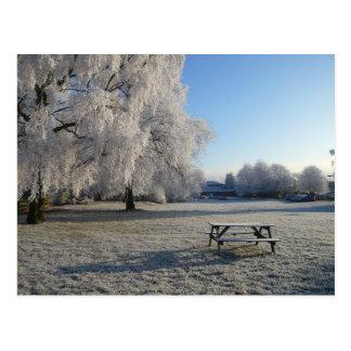 Warwickの冬 ポストカード