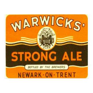 Warwickの強いエール ポストカード