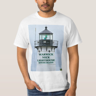 Warwickの首の灯台、ロードアイランドのTシャツ Tシャツ