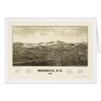 WarwickのNYのパノラマ式の地図- 1887年 カード