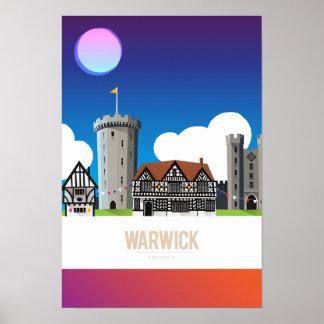 Warwick、イギリス ポスター