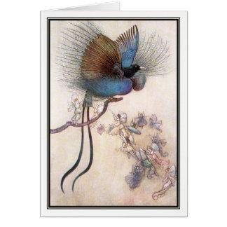 Warwick Goble著極楽鳥 カード