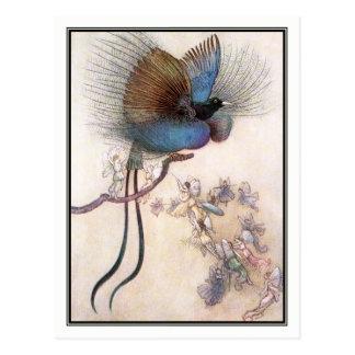 Warwick Goble著極楽鳥 ポストカード
